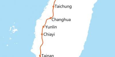 Taiwan high speed rail rute kart